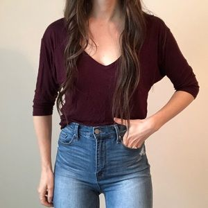 GAP V Neck Slouchy Tee Shirt Relaxed Fit H